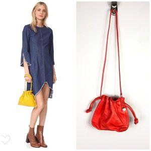 NEW Anthropologie Clare V Orange Leather Bag